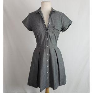 Rag & Bone Fit & Flare Button Front Shirt Dress